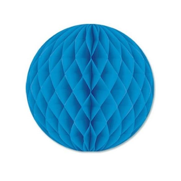 Boule papier ignifugé turquoise 25 cm
