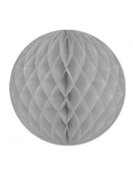Boule papier ignifugé gris 25 cm
