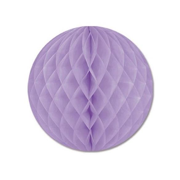 Boule papier ignifugé lilas 25 cm