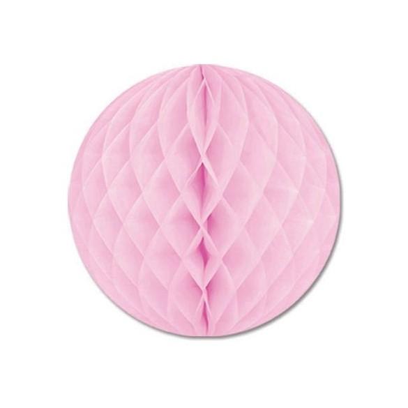 Boule papier ignifugé rose 25 cm
