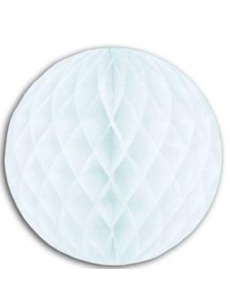 Boule papier ignifugé 25 cm blanc