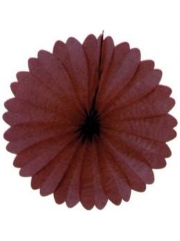 Eventail papier ignifugé chocolat 50cm