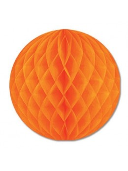 Boule papier ignifugé 25 cm orange