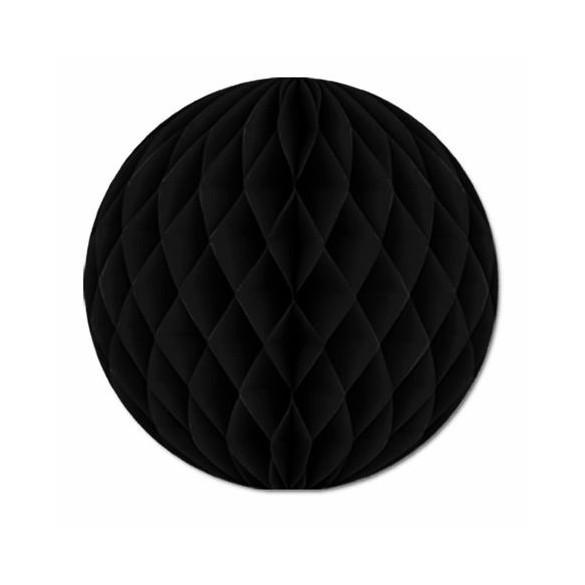 Boule papier ignifugé 25 cm noir