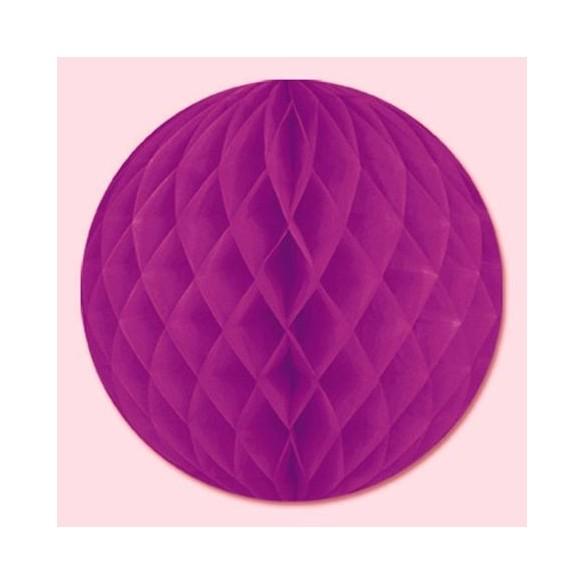 Boule papier ignifugé 25 cm prune