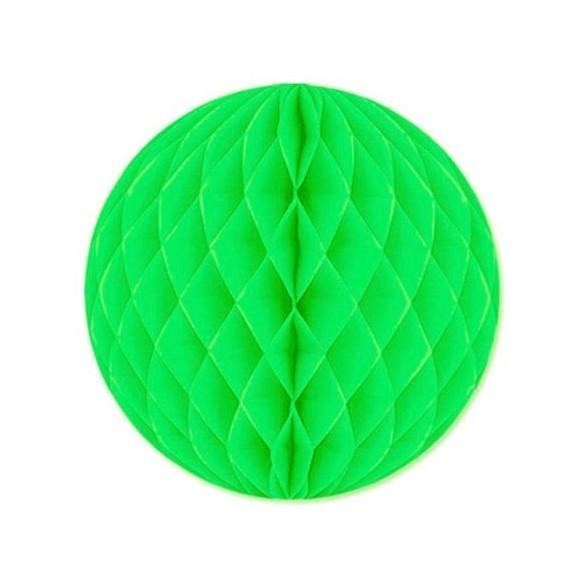 Boule papier ignifugé 25 cm vert tilleul