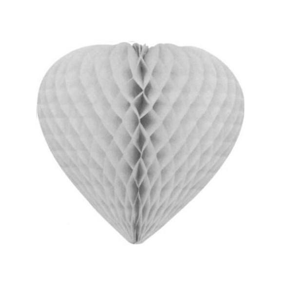 Déco coeur papier ignifugé gris