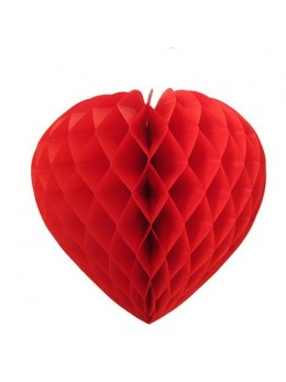 Déco coeur papier ignifugé rouge