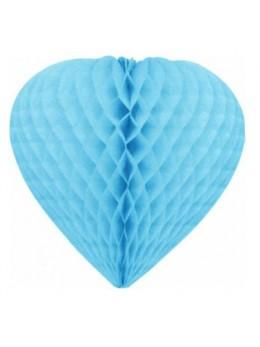 Déco coeur papier ignifugé turquoise