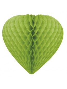 Déco coeur papier ignifugé vert pomme