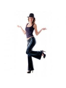 Pantalon disco femme noir