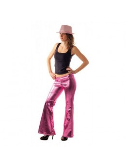 Pantalon disco femme rose