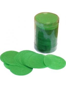 Confetti de scène rond vert prairie