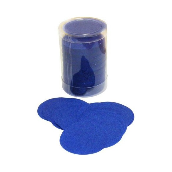 Confetti de scène rond bleu roi