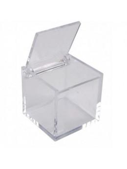 6 Boîtes à dragée cubes transparent