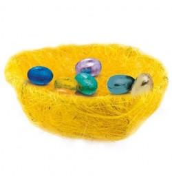 Panière paille jaune 13cm