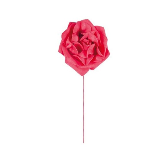 4 roses rouge 8 cm
