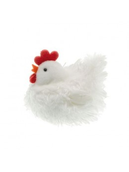Poule blanche 9cm