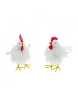 Poule blanche 11cm
