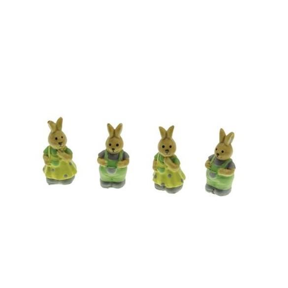 Set 4 lapins résine 4cm