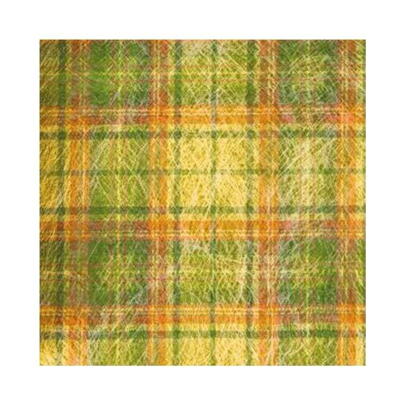 10 sets de table carré madras jaune 34cm