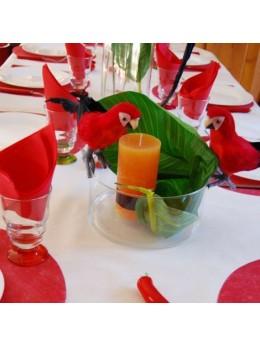 Perroquet multicolore 28 cm