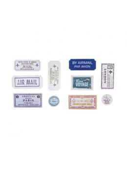 20 étiquettes adhésives thème avion