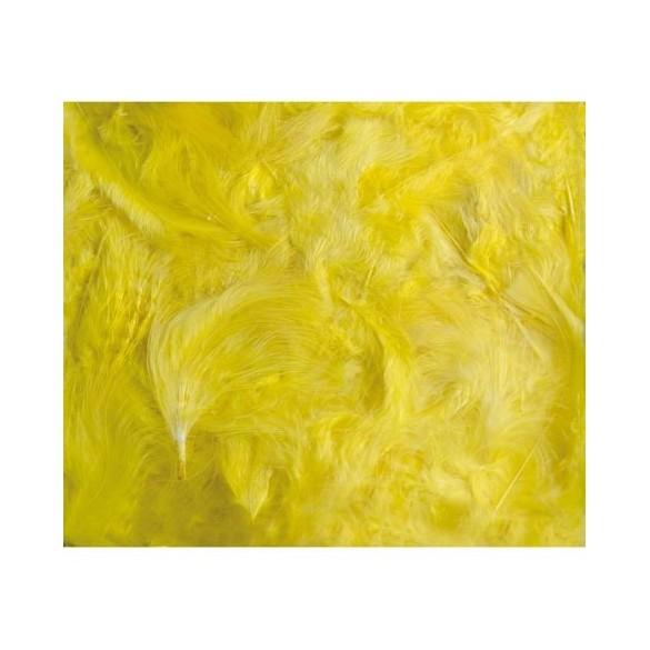 Boîte de plumes jaune 100 grammes