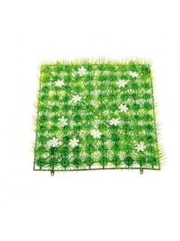Gazon avec fleurs blanches 25cm