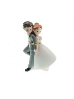 Figurine couple mariés résine enchainés