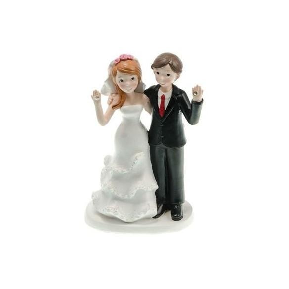 Figurine couple mariés résine diamants
