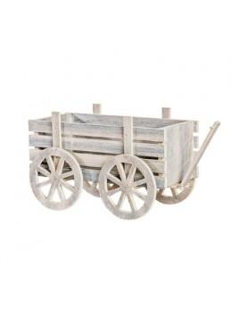 Charette bois blanchi 30cm