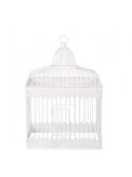 Cage métal blanc vintage 39cm