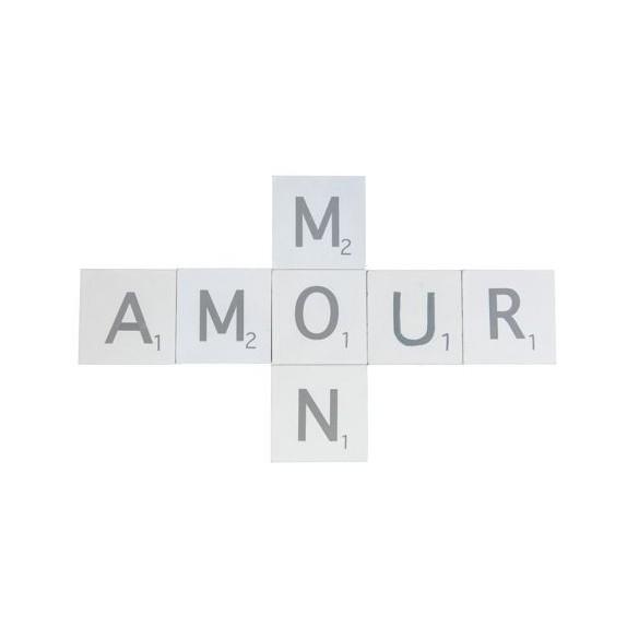 """Set 7 lettres bois """"Mon amour"""""""