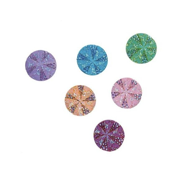 Set 12 disques paillettes multicolore