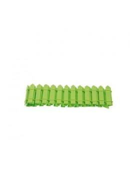 Barrière bois vert 5.5cm
