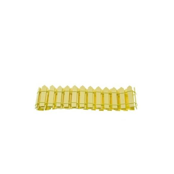 Barrière bois jaune 5.5cm