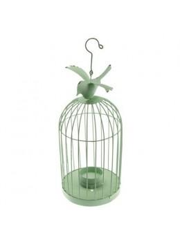 Cage métal oiseau vert 32cm