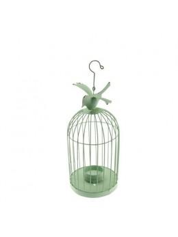 Cage métal oiseau vert 20cm