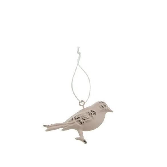 Oiseau métal à suspendre saumon 7cm