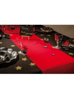 Chemin de table tapis rouge