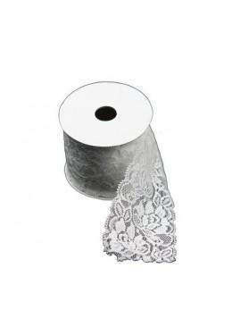 Ruban dentelle coton blanc 7cmx2m