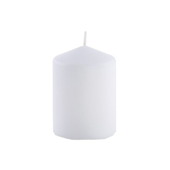 Bougie cylindrique blanc 6cmx10cm