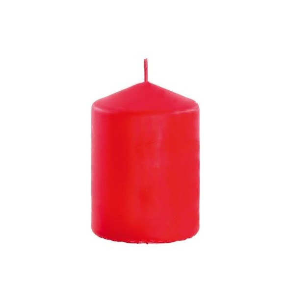 Bougie cylindrique rouge 6cmx10cm