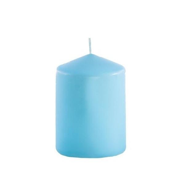 Bougie cylindrique turquoise 6cmx10cm
