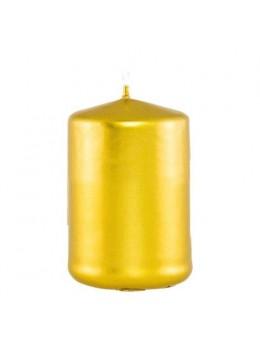 Bougie cylindrique or métal 6cmx10cm