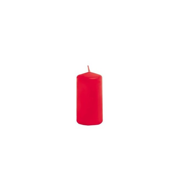 Bougie cylindrique rouge 4cmx6cm