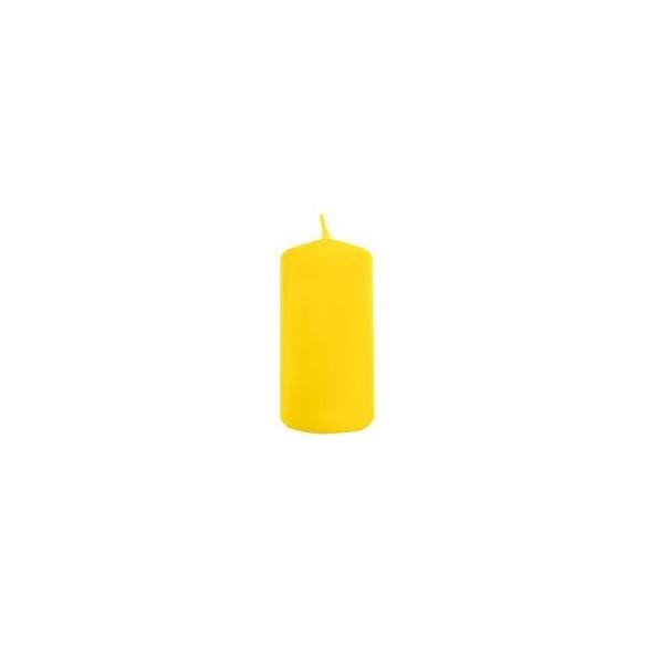 Bougie cylindrique jaune 4cmx6cm