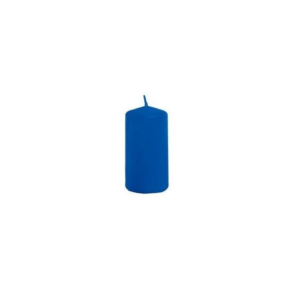 Bougie cylindrique bleu roi 4cmx6cm