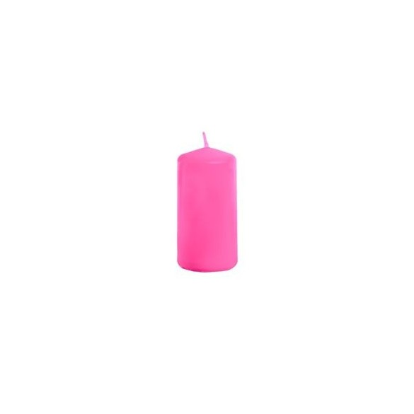 Bougie cylindrique rose pale 4cmx6cm